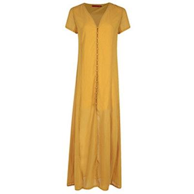 Natalya Button Through Sliced Maxi Dress