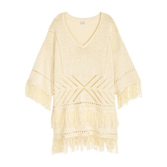 Knit Sweater with Fringe