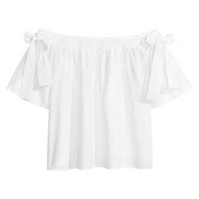 Off-The-Shoulder Cotton Blouse