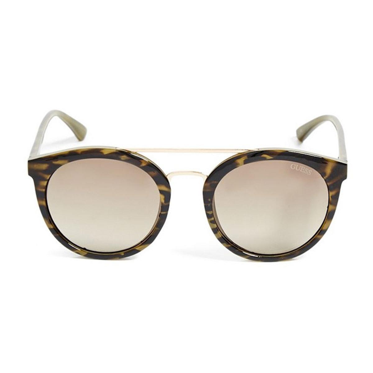 Kara Round Plastic Sunglasses