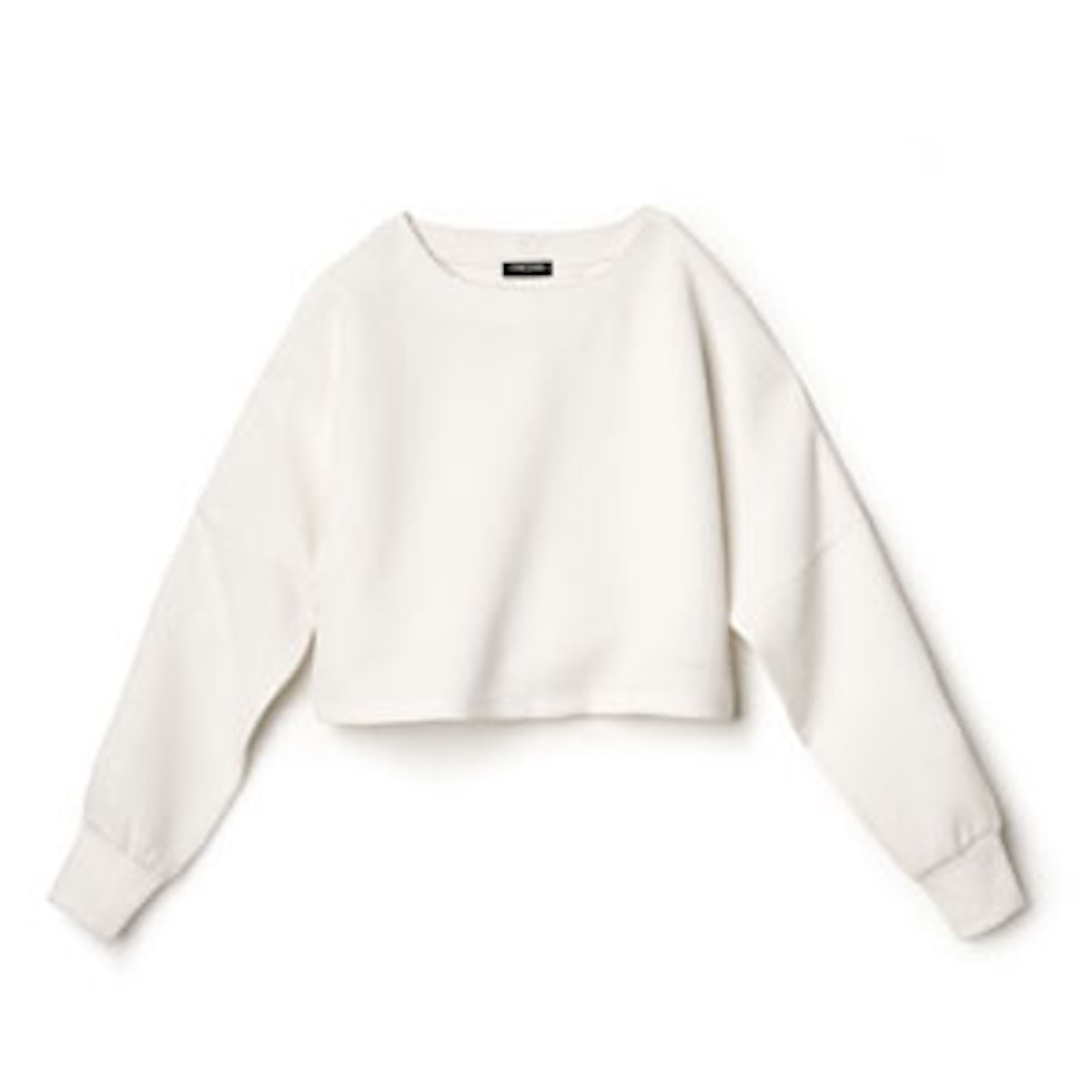Cropped Textured Knit Top