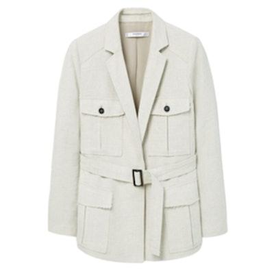 Pocket Linen-Blend Jacket