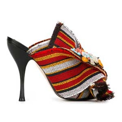 Striped Knot Detail Mules