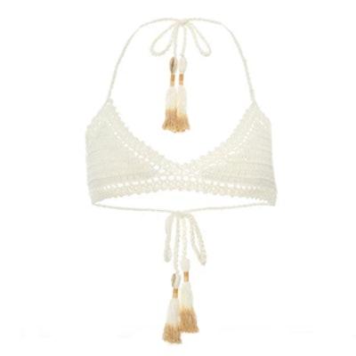 70s Essential Crochet Bikini Top