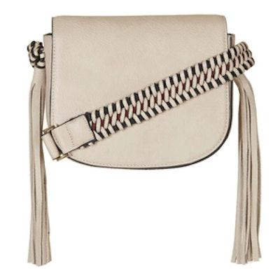 Woven Strap Saddle Bag