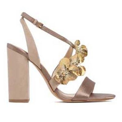 High Heel Sandals With Floral Detail