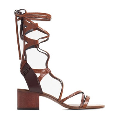 Lace Up Leather Sandals