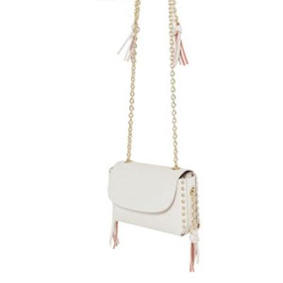 Studs And Chain Cross Body Bag