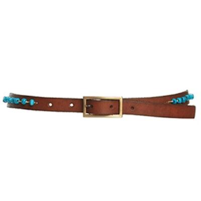 Tonya Beaded Leather Belt