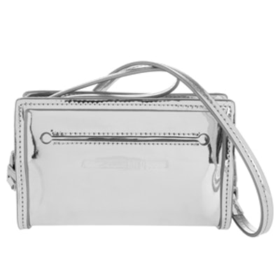 Addicted Cell Metallic Leather Shoulder Bag