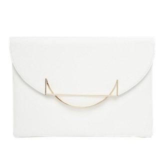 Metal Trim Clutch Bag