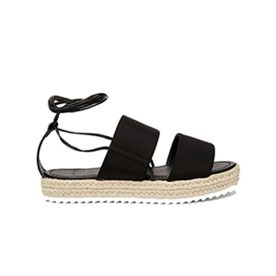 Jeopardy Tie Leg Espadrille Sandals