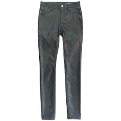 Hi Rise Vegan Leather Pants