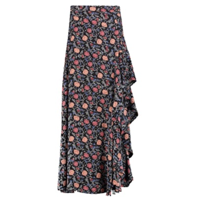 Avalon Ruffle Side Bohemian Maxi Skirt