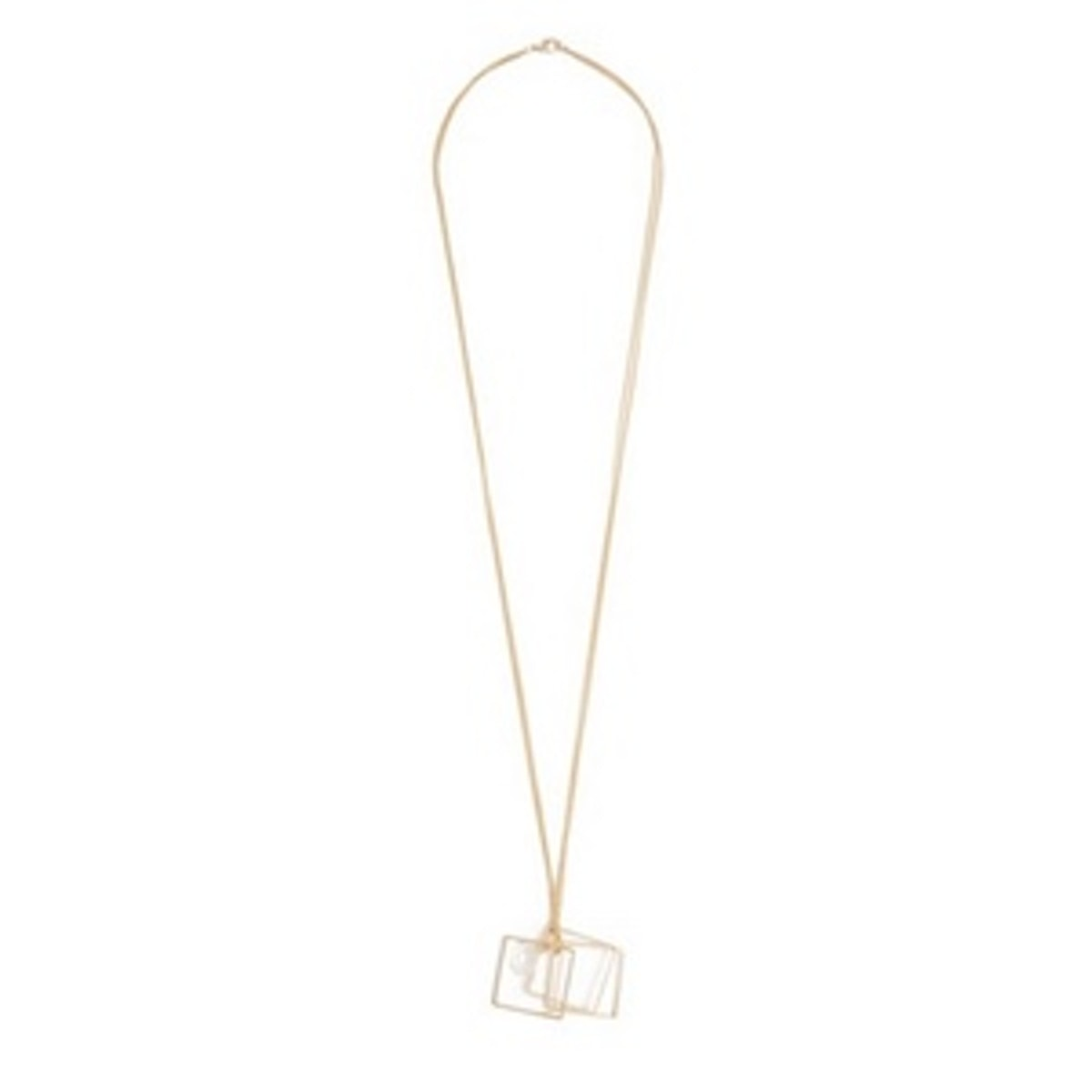 Jaclyn Gold-Tone Geo Pendant Necklace