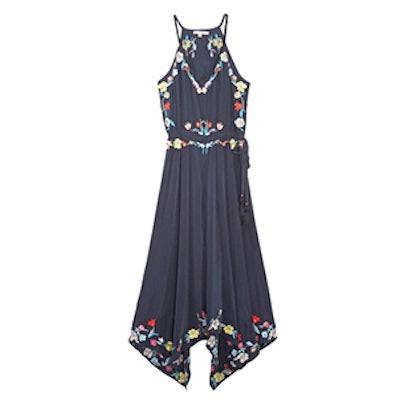 Rodru Embroidered Silk Dress