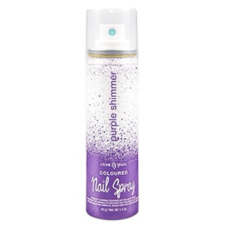 Shimmer Coloured Nail Spray In Purple