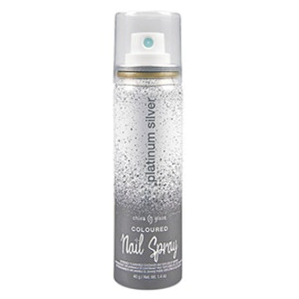 Shimmer Coloured Nail Spray In Silver