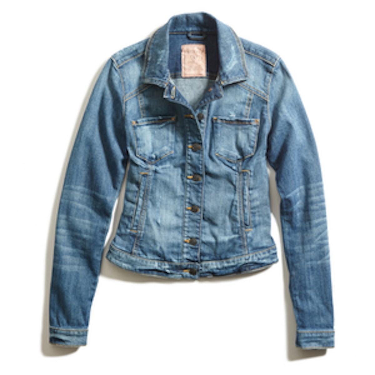 Tailored Denim Jacket in Bastillo Destroy Wash
