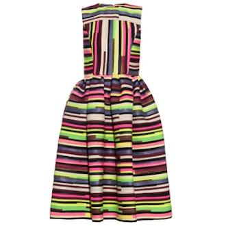 Stephanie Striped Jacquard Dress