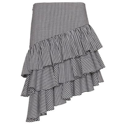Marion Ruffle Gingham Skirt