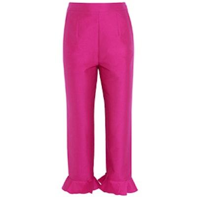 Cropped Ruffled Pants