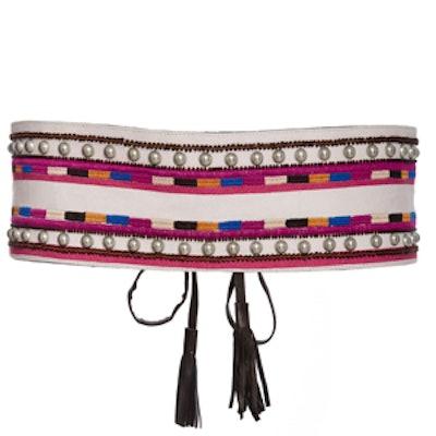 Rider Embroidered Belt