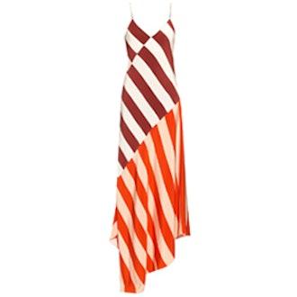 Connie Stripe-Print Sleeveless Dress