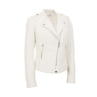 Fashion Faux-Leather Cycle Jacket