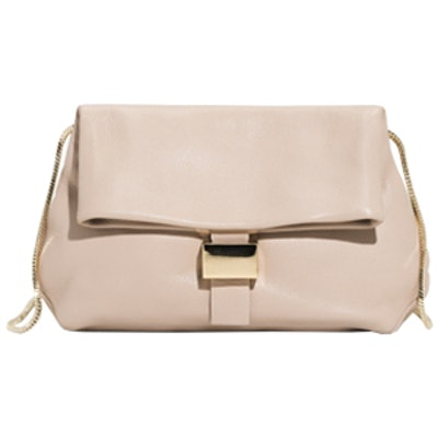 Small Leather Fold-Over Bag