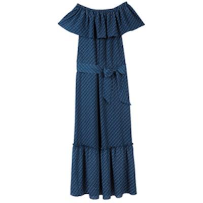 Sleeveless Off The Shoulder Maternity Dress