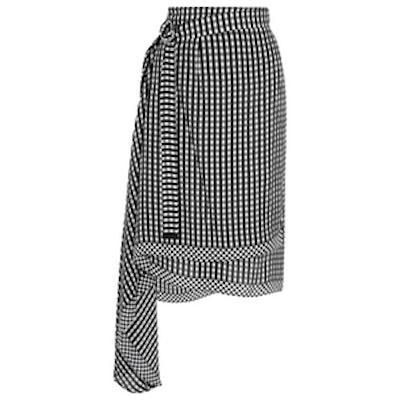 Lea Gingham Wrap Skirt