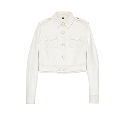 Genna Cropped Leather Jacket