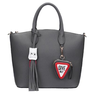 Zipper Fun Tassel Tote Bag