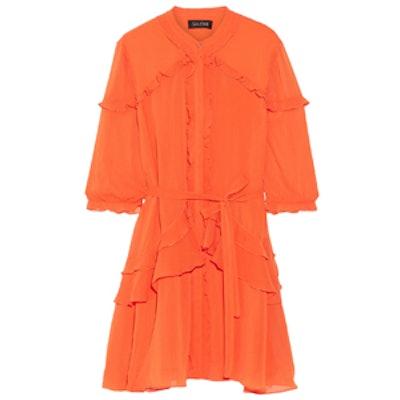 Tilly Ruffled Georgette Mini Dress