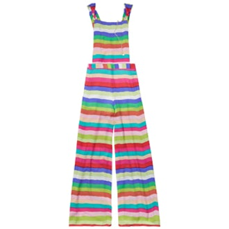 Silk Striped Dungarees