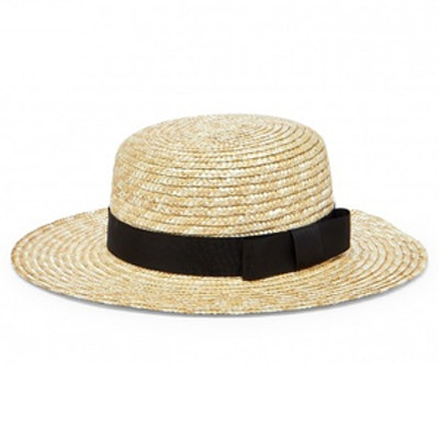 Wide Brim Straw Boater Hat