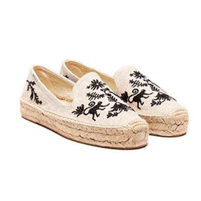 Otomi Platform Smoking Slipper