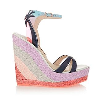 Lucita Malibu Leather Wedge Sandals