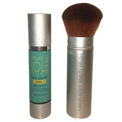Sun Gelee Self Tan + Kabuki Brush Starter Kit