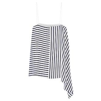 Identity Stripe Asymmetric Silk Camisole