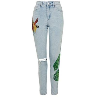 Moto Rio Sequin Mom Jeans