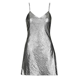 Metallic Strappy Slip Dress