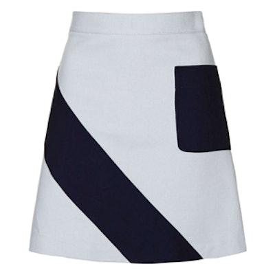 Crepe Panel A-Line Mini Skirt