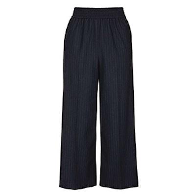 Pinstripe Crop Wide Leg Trousers