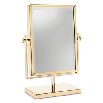 Two-Sided Gold Vanity Mirror