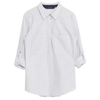 Polka Dot Poplin Shirt