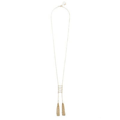 Monica Gold-Tone Ladder Necklace