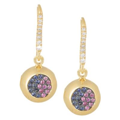 18-Karat Gold, Sapphire And Diamond Bell Earrings