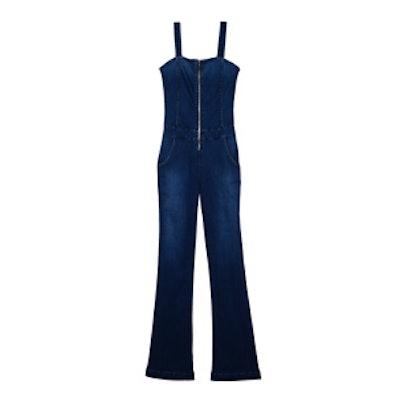 Zip Front Flare Jumpsuit